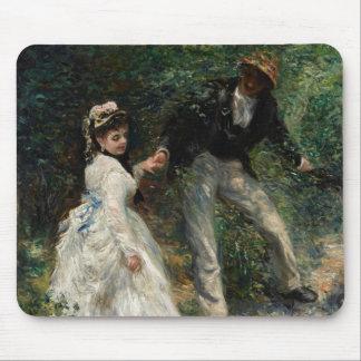 La Promenade Renoir Couple Walking Painting Art Mouse Pad