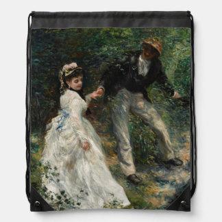 La Promenade Renoir Painting Fine Art Backpack