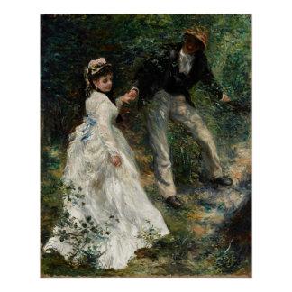 La Promenade Renoir Painting Fine Art Poster