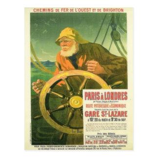 La publicité vintage, chemins de fer français carte postale