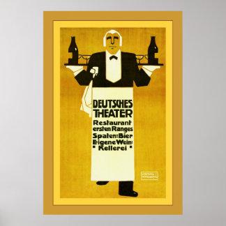 La publicité vintage de ~ de restaurant de théâtre affiches