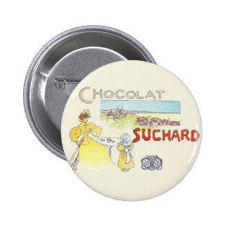 La publicité vintage de sucrerie de chocolat franç macaron rond 5 cm