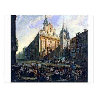 La Puerta del Sol en Madrid by Luis Paret y Alcaza Postcard