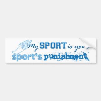 La punition de votre sport (bleue) autocollant de voiture