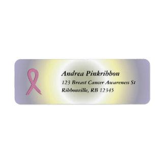 La radiale colorée d'Avery de cancer du sein rose Étiquette D'adresse Retour