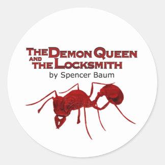 La reine de démon et le serrurier sticker rond