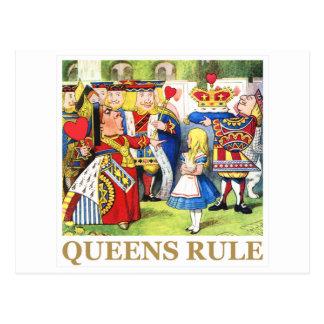 """La reine des coeurs dit, """"règle de la Reine ! """" Cartes Postales"""