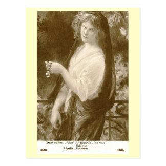 La Relique Woman Boye Art Vintage Postcard