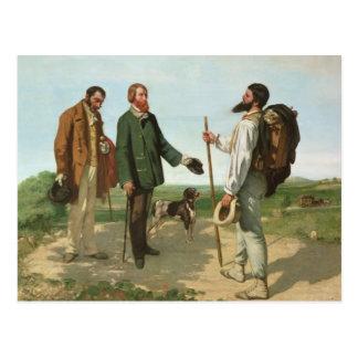 La Rencontre, or Bonjour Monsieur Courbet, 1854 Postcard
