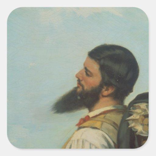 La Rencontre ou Bonjour M.Courbet, Sticker