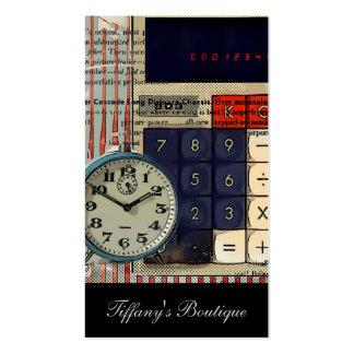 La rétro électronique de calculatrice vintage carte de visite standard