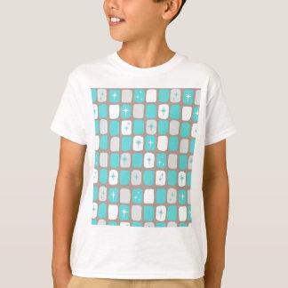 La rétro turquoise Starbursts badine le T-shirt