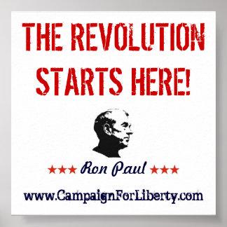 La révolution commence ici ! Affiche