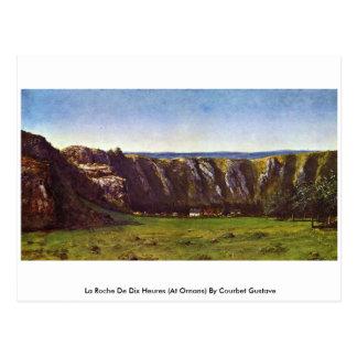 La Roche De Dix Heures  By Courbet Gustave Postcard