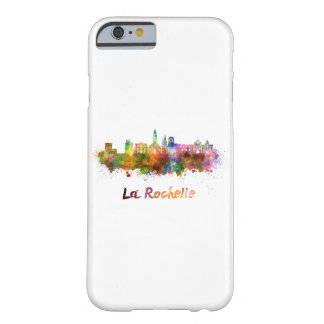 La Rochelle skyline in watercolor Barely There iPhone 6 Case