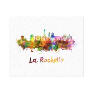La Rochelle skyline in watercolor Canvas Print