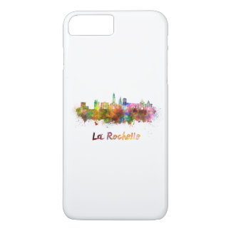 La Rochelle skyline in watercolor iPhone 7 Plus Case