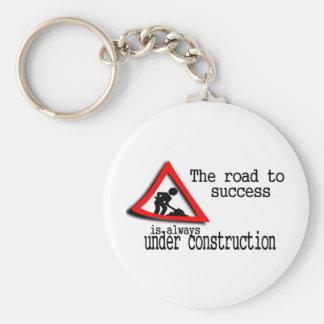 La route au succès est toujours en construction porte-clé rond