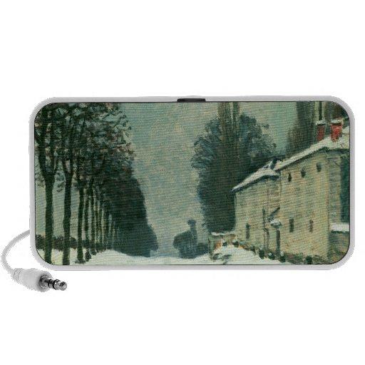 La Route de Louveciennes, Hiver, 1874 (huile sur l Haut-parleur Portable
