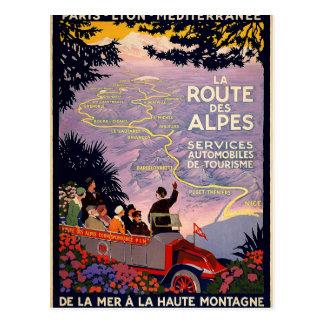La route des Alpes Postcard