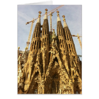 La Sagrada Familia, Barcelona, Spain Card