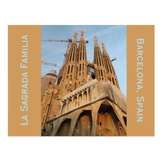 La Sagrada Familia, Barcelona Spain Postcard