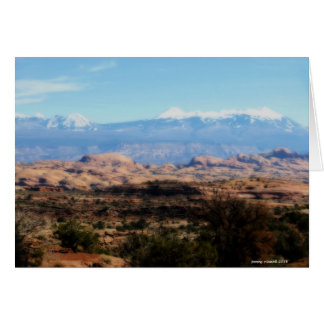 La Sal Mountains from Arches Card