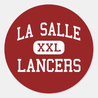 La Salle - Lancers - High - Pasadena California Classic Round Sticker