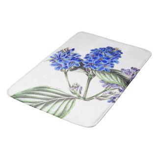 La sauge bleue florale botanique fleurit le tapis tapis de bain