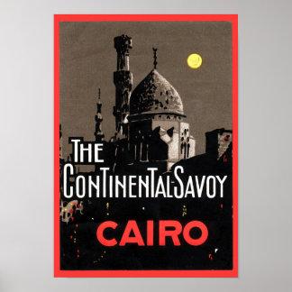 La Savoie continentale affiche de voyage du Caire