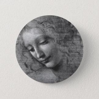 La Scapigliata by Leonardo da Vinci 2 Inch Round Button