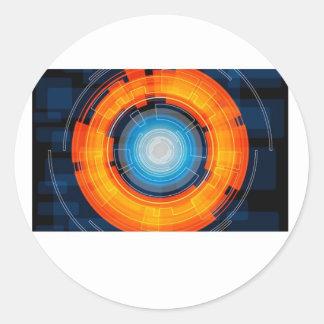 La science fiction sticker rond