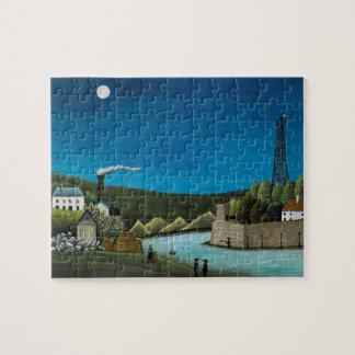 La Seine a Suresnes by Henri Rousseau, Vintage Art Jigsaw Puzzle