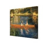 La Seine de Renoir chez Asnières (le skiff) Ca 187 Toile Tendue Sur Châssis