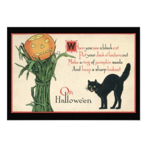 La seulement une vie à vivre Halloween vintage Invitations