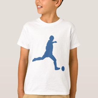 La silhouette du football badine le T-shirt