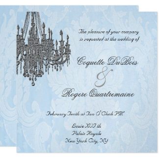 La Silver Sparkle Chandelier Invitations