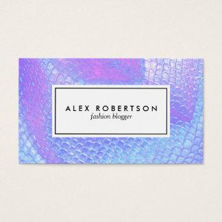 La sirène de rose en pastel, d'aqua et de lilas cartes de visite