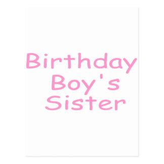 La soeur du garçon d'anniversaire cartes postales