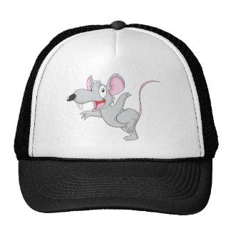 La souris étonnée de rat sautent casquette de camionneur