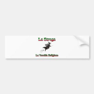 La Strega the Italian Halloween witch. Bumper Sticker