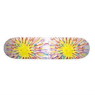 La sucrerie arrose la planche à roulettes skateboard