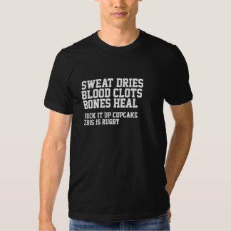 La sueur sèche des caillots sanguins que le rugby tee shirts