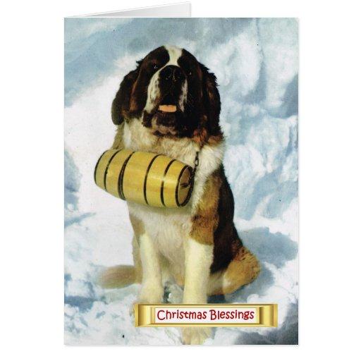 La Suisse vintage, chien de St Bernard, Cartes De Vœux