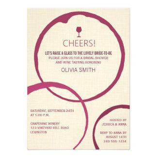 La tache de vin sonne les invitations nuptiales de