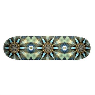 La terre abstraite modifie la tonalité l'emblème skateboard 21,6 cm