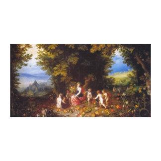 La terre avant janvier Brueghel l aîné Toiles Tendues Sur Châssis