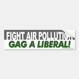 """La terre """"bâillon de pollution atmosphérique de co autocollant de voiture"""