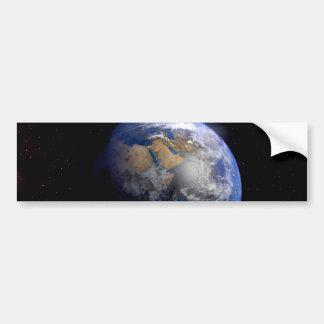 La terre bleue de l'espace inspiré autocollant de voiture
