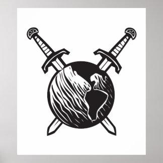 La terre croisée d'épées posters